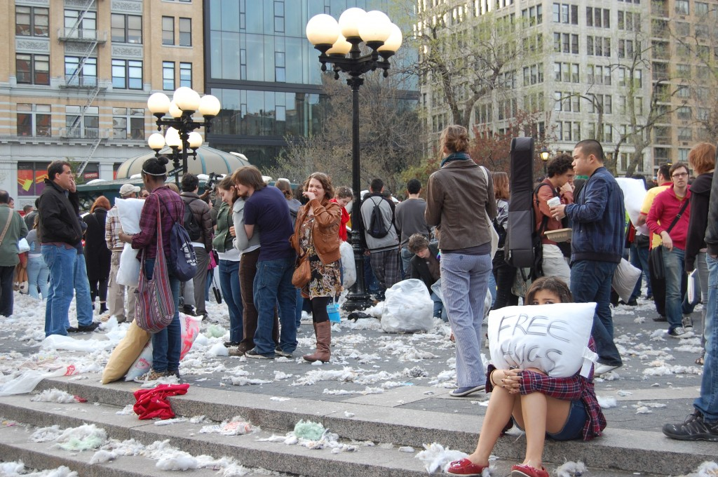 The aftermath of NYC's pillow fight