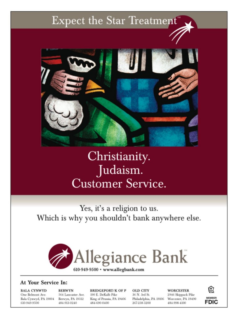 Customer service as a religion.