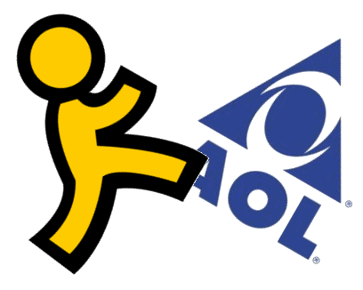 The familiar AOL symbols when Aol was familiar