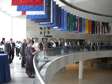 Museums like The National Constitution Center are great places to hold corporate events.