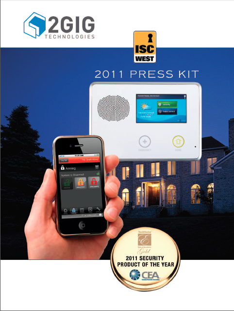 Consumer Electronics  Association has rightly named 2GIG's GO!Control the 2011 Security Product of the Year