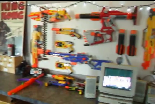 Nerf arsenal in Red Tettemer's interactive department.