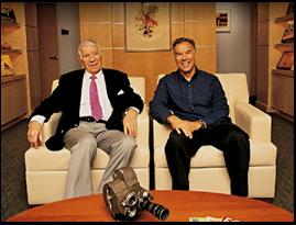 Ed Sabol and Steve Sabol of NFL Films