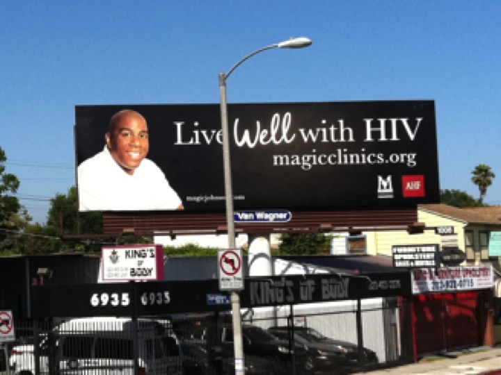 Magic Johnson is still offering hope to those with HIV.