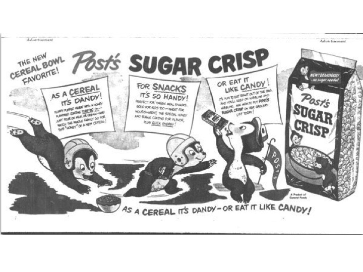 Sugar Crisp was once golden (and now renamed that) at Post. Now, it is the S word.