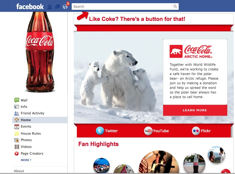 Coca-Cola's white can redesign went south, but WWF/arctic home donations are hopefully still heading north.