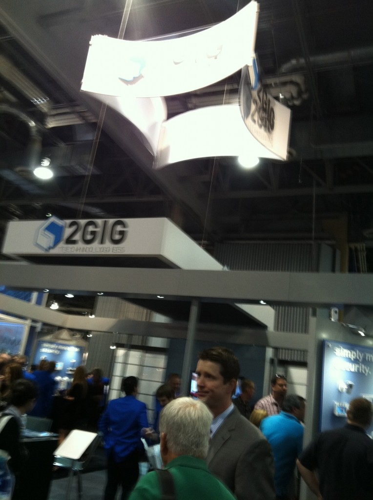 The 2GIG booth was demo land at ISC because everyone wanted to get a preview of the new Go! 2.0 panel.