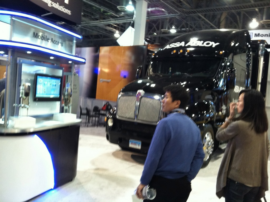 Assa Abloy was a big presence at ISC West (including a booth big enough to house a tractor trailer).