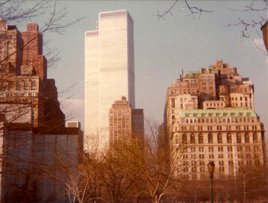 It was painful and haunting to go through old photos and find the World Trade Towers.