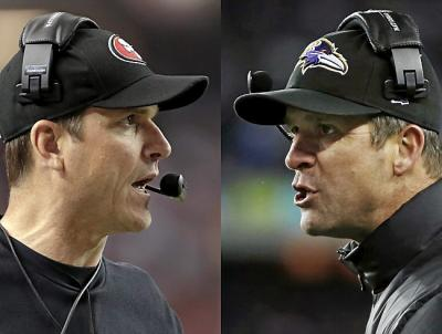 Jim Harbaugh, coach of SF, is taking on his brother John Harbaugh, coach of Baltimore in the game affectionately, but controversially known, as the Harbowl.