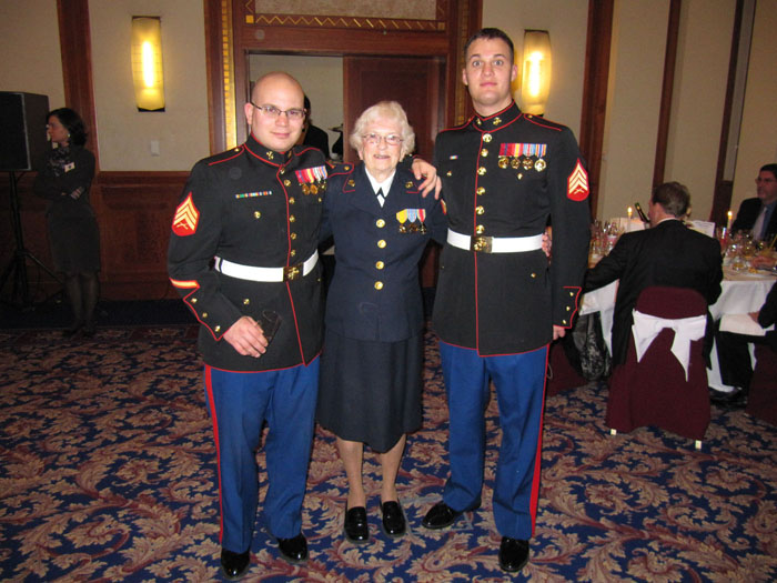 Charlotte was honored as the oldest marine at two recent USMC Balls in Hungary (here) and earlier in Beijing.