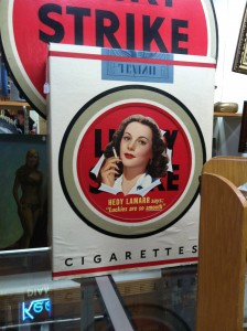 Hedy Lamar continued the Lucky Strike trend of movie star brand spokespersons.