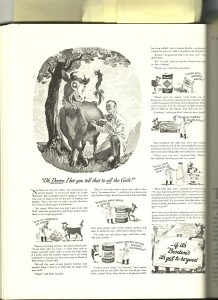Elsie the Cow interestingly enough began life as a trade ad campaign in medical journals.