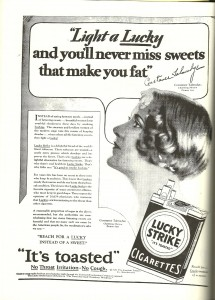 This Lucky Strike campaign was aimed squarely at women and against candy.