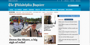 Inquirer.com is the new online Inquirer site (playing second fiddle to much of the same content free on Philly.com)