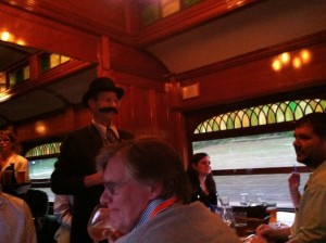 A murder mystery dinner on the Strasburg Railroad was a great way to cap off a day of sessions at Security Partners dealer conference