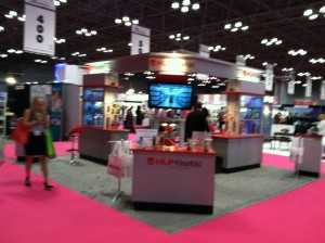 Our client HLP Klearfold fortunately had a prominent location toward the front of the HBA hall at Javits.