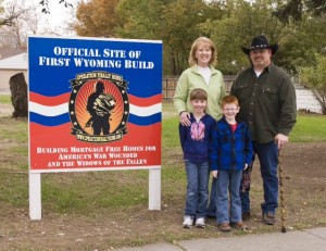 The Butz family, recipients of Operation Finally Home's first home in Wyoming